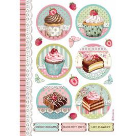 Stamperia Reispapier A4-Sweety DFSA4503