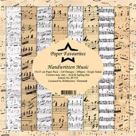 "Paper Favourites-Handwritten Music 6x6"""