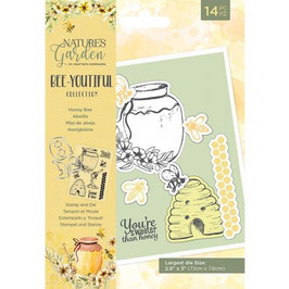 Crafter's Companion Stempel & Stanzer Set-Bee-Youtiful Collection/Honey Bee