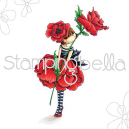 Stamping Bella-Cling Stamp/Garden Girl Poppy