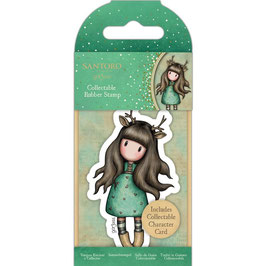 Gorjuss-Collectable Mini Rubber Stamp No.82/Doe-Eyed