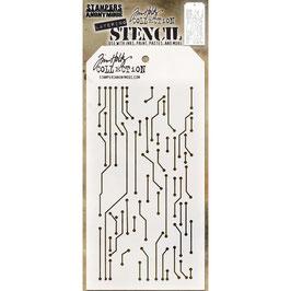 Tim Holtz-Stencil/Circuit Layered
