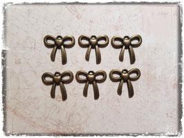 Vintage Metall Charms-bronce/Schleife