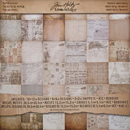 Tim Holtz-Scrapbooking Papier/French Industrial 12x12""