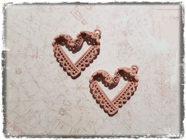 Metall Charms-Herz Rosa-4.001