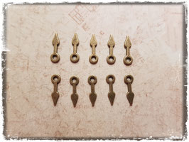 Vintage Metall Charms-Uhrzeiger