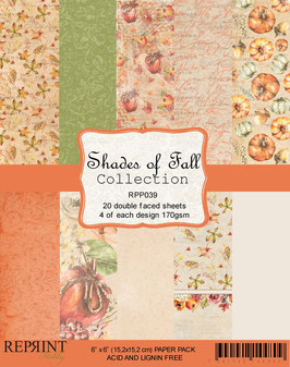"""Reprint-Shades of Fall Collection 6x6"""""""