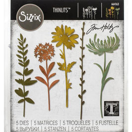 Sizzix by Tim Holtz Thinlits-Stanzform/Wildflower Stems #1