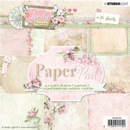"Studio Light-Paper Pad Lovely Moments 6x6"" PPLM123"