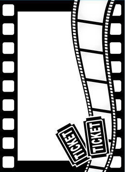 Darice-Prägeschablone/Movie Theme