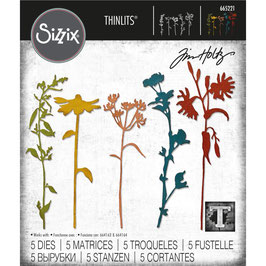 Sizzix by Tim Holtz Thinlits-Stanzform/Wildflower Stems #3