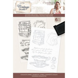 Crafter's Companion Stempel-Vintage Diary Exquisite Embellishments