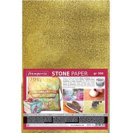 Stamperia-Stone Paper/Steinpapier A4 Gold