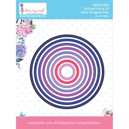 Dress My Craft Stanzform-Large Stitched Circle