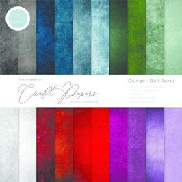 """Craft Consortium-Paper Pad/Grunge Dark Tones 6x6"""""""