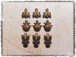 Vintage bronce Charms - Tiere 128