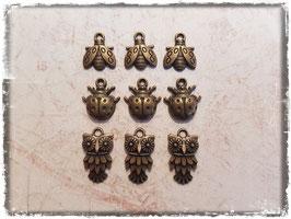 Vintage Metall Charms-bronce/Tiere