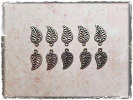 Metall Charms-Blatt Silber-230