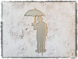 Stanzform-Charlie Chaplin/Schirm nach rechts 1015