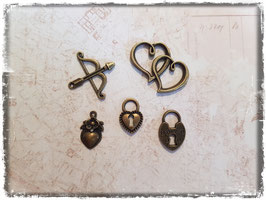 Vintage bronce Charms - Liebe 109