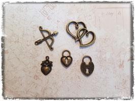 Vintage Metall Charms-bronce/Liebe