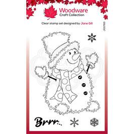 Woodware Stempel-Snowman