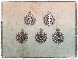 Metall Charms-Schneeflocke Silber 1/212