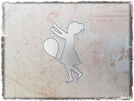 Stanzform-Mädchen mit Luftballon 1094