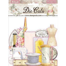 Stamperia-Die Cuts Romantic Collection-Threads