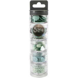 Sizzix Making Essential/Sequins & Beads-Mint Julep
