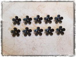 Metall Charms-Blumen Bronce-133