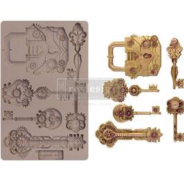 Re-Design with Prima Marketing-Silikonform/Mechanical Lock & Keys