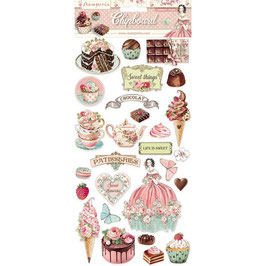 Stamperia-Chipboard Sweety