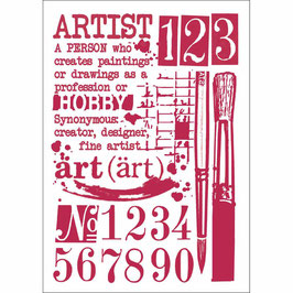 Stamperia-Stencil/Artist KSG423