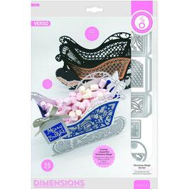 Tonic Studios Stanzform-Dimensions-Christmas Sleigh Ornament 3655E