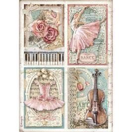 Stamperia Reispapier A4-Passion DFSA4542