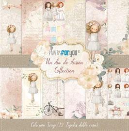 """Papers for you-Un dia de Ilusión/Mädchen-Blond 12x12"""""""