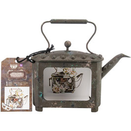 Finnabair-Prima Marketing-Altered Metal Frame/Rusty Teapot