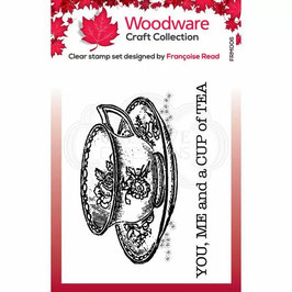 Woodware-Stempel/Cup of tea