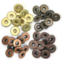 We R Memory Keepers Eyelets-Ösen gross/Warm Metal