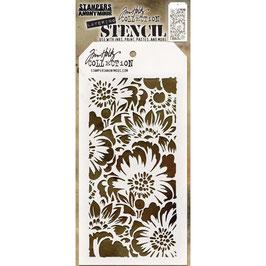 Tim Holtz-Stencil/Bouquet Layered