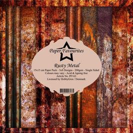 "Paper Favourites-Rusty Metal 12x12"""