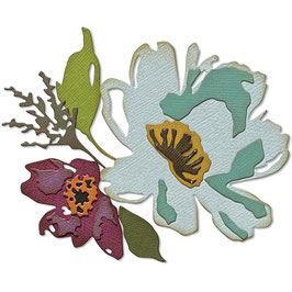 Sizzix by Tim Holtz Thinlits-Stanzform/Brushstroke Flowers #3