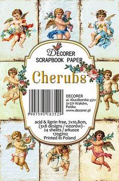 Decorer-Ephemera Karten/Cherubs