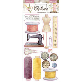 Stamperia-Chipboard Romantic Collection Threads