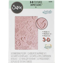Sizzix-3D Prägeschablone/Hearts