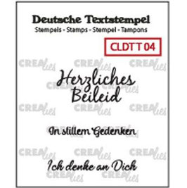 """Crealies-Clear Stamps """"Trauern 04"""""""