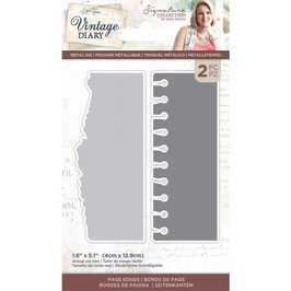 Crafter's Companion Stanzform-Vintage Diary Page Edges Dies