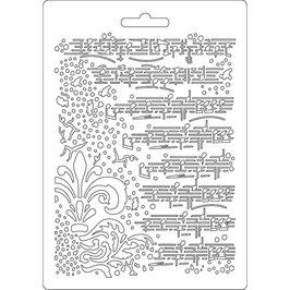 Stamperia-Soft Mould A5-Music K3PTA504