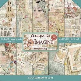 Stamperia-Paper Pad Imagine 12x12""